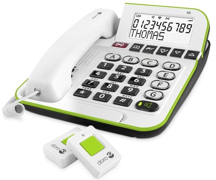 Doro Secure 350 seniorentelefoon met hals- en polsalarm