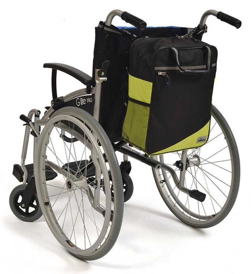 Wheelyscoot tas zwart/groen | Rolstoel / scootmobiel tas