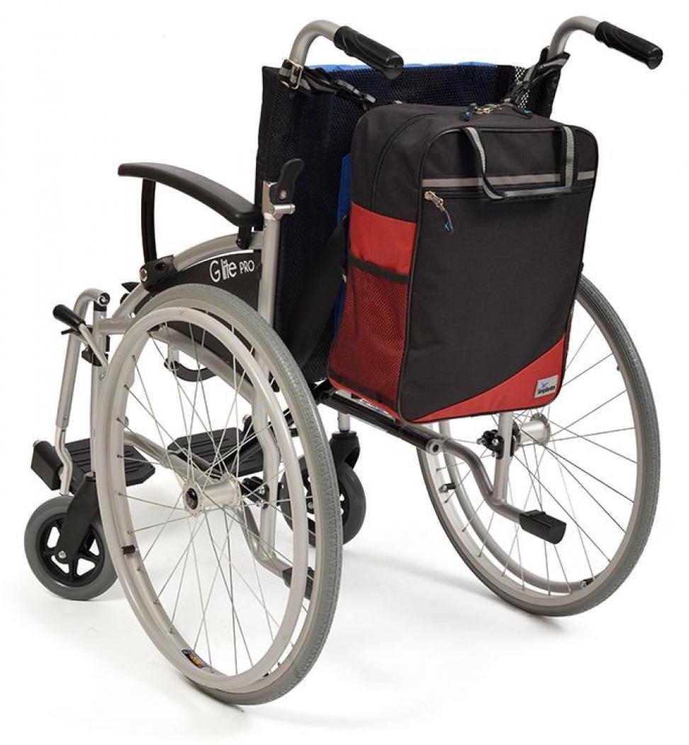 Wheelyscoot tas zwart/burgundy | Rolstoel / scootmobiel tas