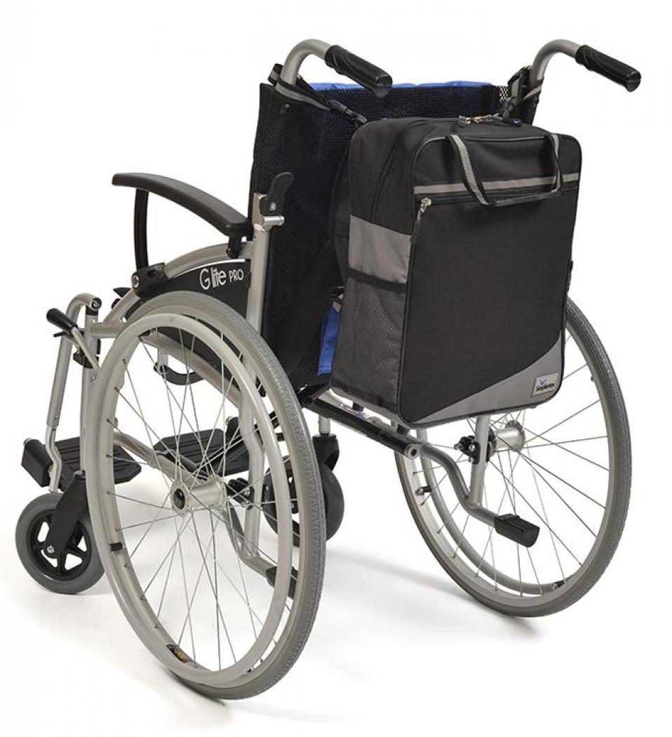 Wheelyscoot tas zwart/grijs | Rolstoel / scootmobiel tas