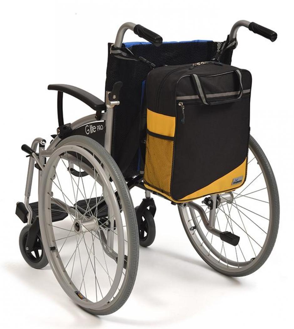 Wheelyscoot tas zwart/geel | Rolstoel / scootmobiel tas