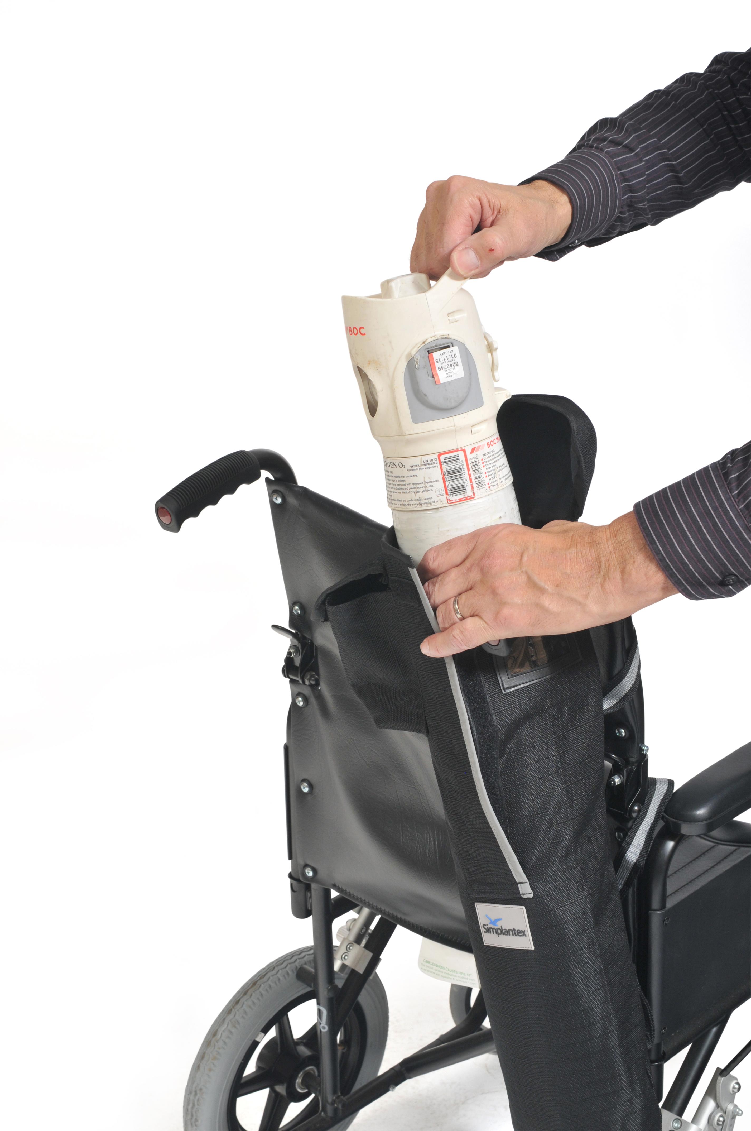 Zuurstoftas voor rolstoel of scootmobiel