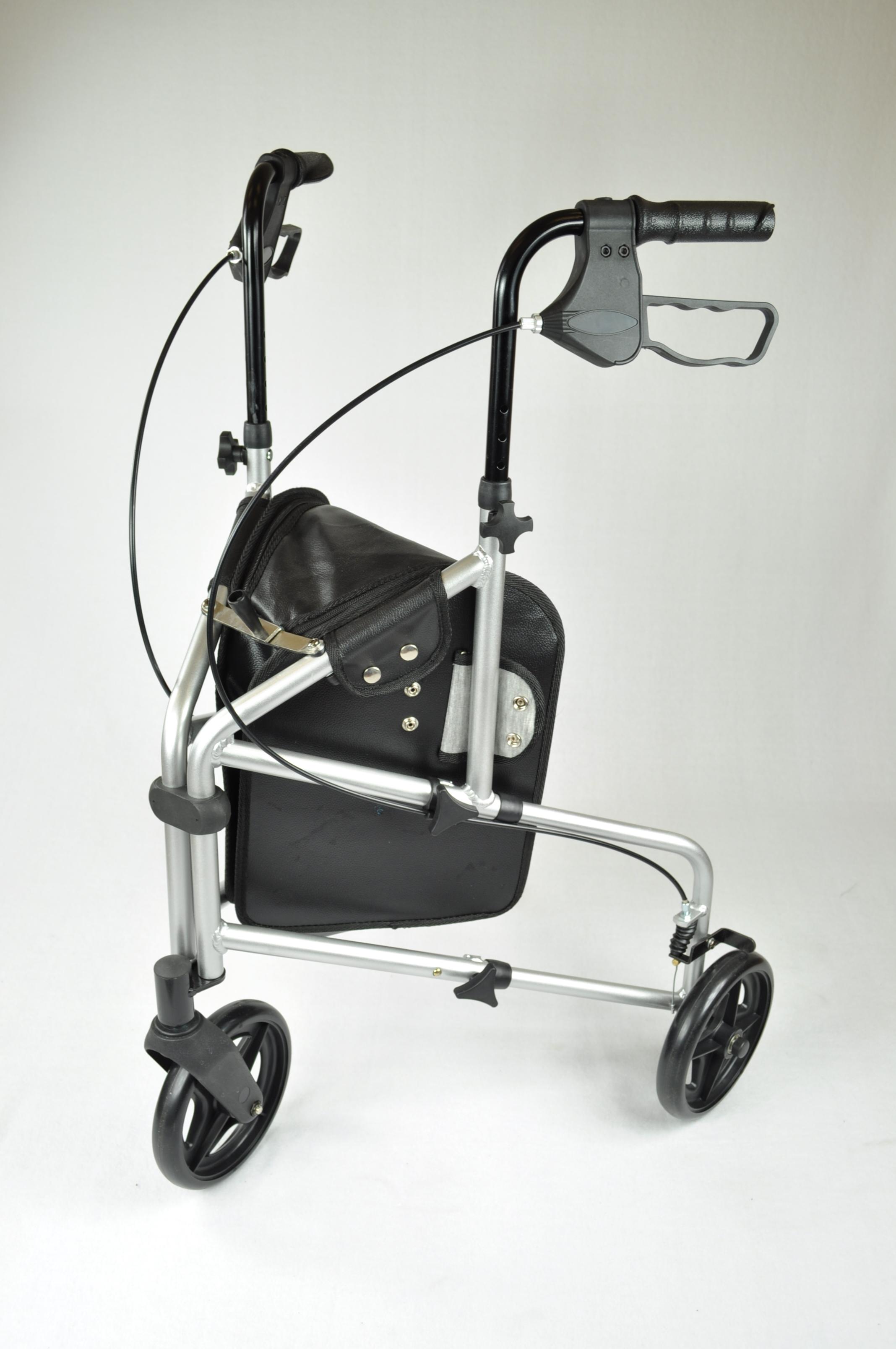 Aluminium 3-wiel Rollator - Zilver