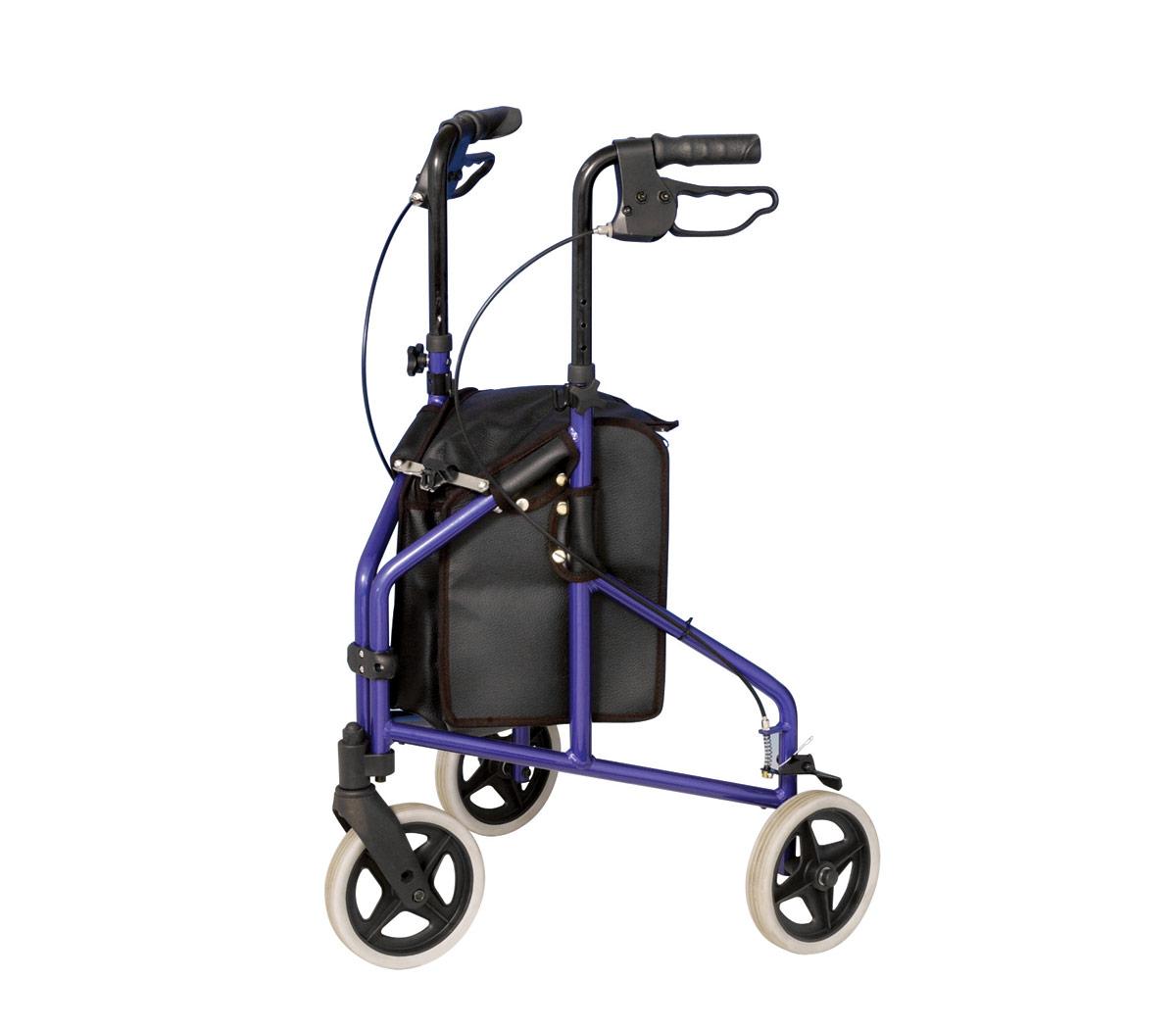 Tas voor 3-wiel rollator - Zwart