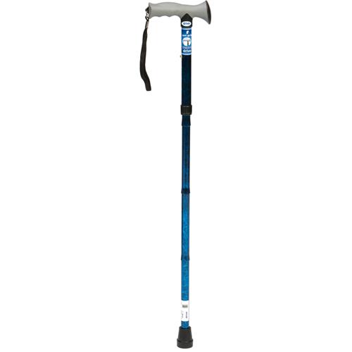 Opvouwbare wandelstok met gelgreep - Blauw