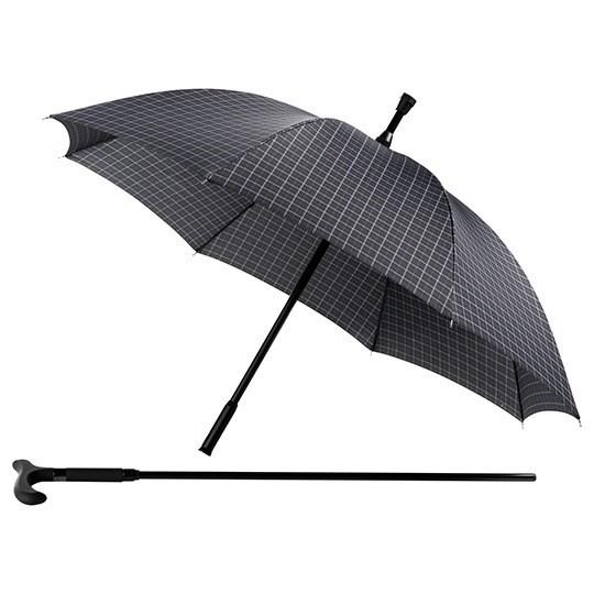 Paraplu wandelstok - ruiten blauw